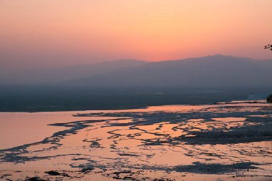 Pamukkale, sunset