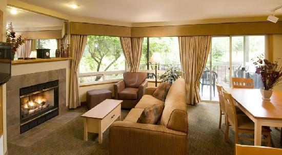 Living Area in 2 Bedroom Unit