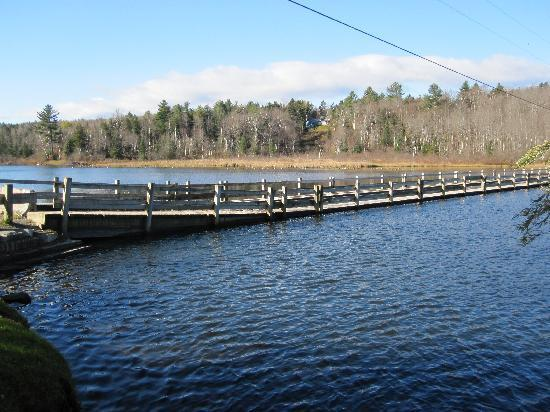 "Green Trails Inn: The somewhat ""floating"" bridge just across the street from the inn as well."