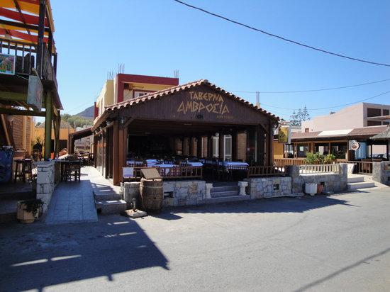 Ambrosia Taverna: Indoor seating area