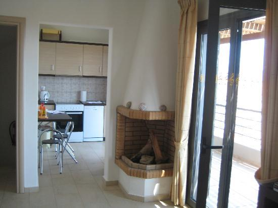 Elounda Solfez Villas: the fire place