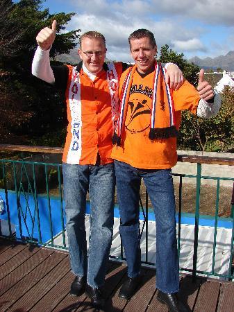 Aan Dorpstraat Guest House: Guests_Johan Buijks & William Kuijpers in full team colours