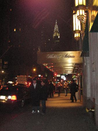 Waldorf Astoria New York: Lexington Ave. Entrance w/Empire State Bldg in background