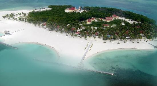 Aerial view of Turneffe Island Resort