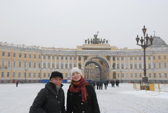 เซนต์ปีเตอร์สเบิร์ก, รัสเซีย: Place des Palais - 24/02/2009