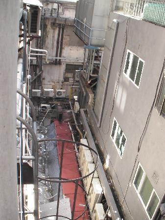 Oriental Pearl Hostel Hong Kong: Aussicht vom Zimmer