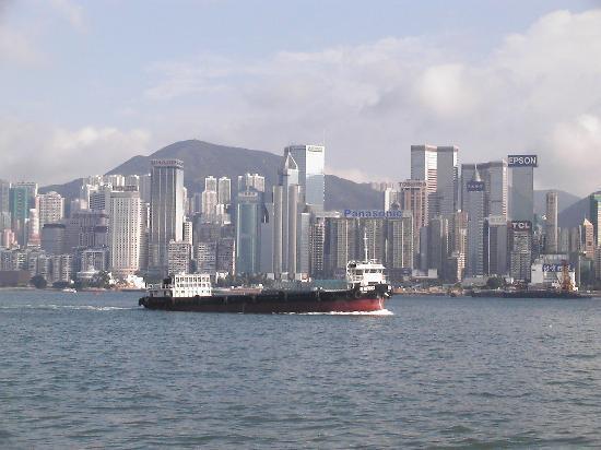Oriental Pearl Hostel Hong Kong: Die Skyline von Hong kong