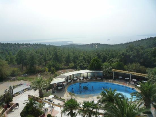 Hotel Philippion: Swiiming pool under construction