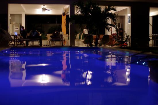 Swell Surf Camp: Swell pool at night