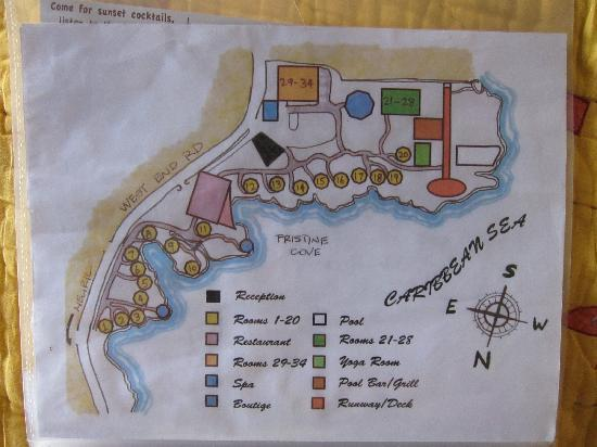 Rockhouse Hotel: Resort map