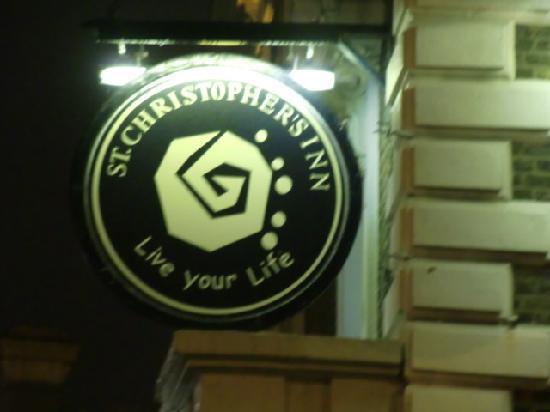 St Christopher's Inn Greenwich: 看板