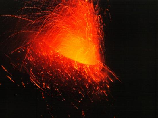 Ausbruch des Stromboli