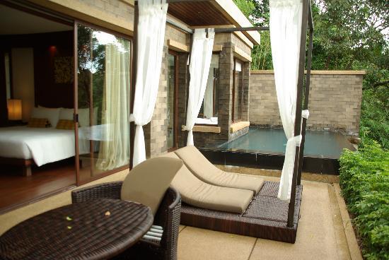 Paresa Resort Phuket : Terrasse et piscine