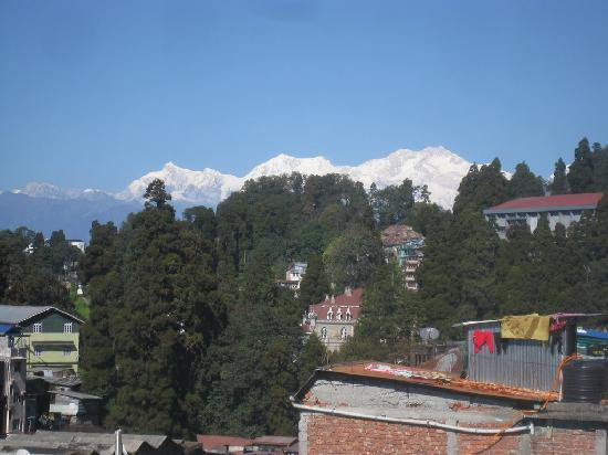 Seven Seventeen: View of the Himalayas from the hotel.