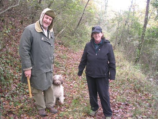 The Truffle Hunter: Myself with Giulio & Etta