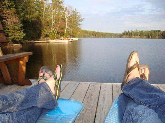 Fenske Lake Resort Cabins: Relaxing and taking in the beauty at Fenske Lake Cabins!