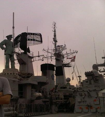 Surabaya, Indonesia: inside the warship