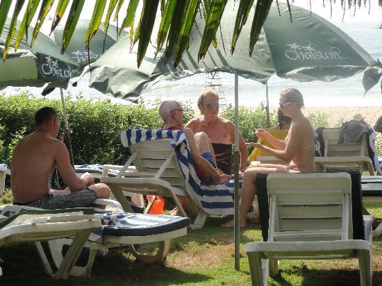 Chalston Beach Resort: Beach side in Resort
