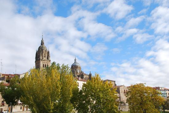 Salamanca, Spanien: la catedral en otoño