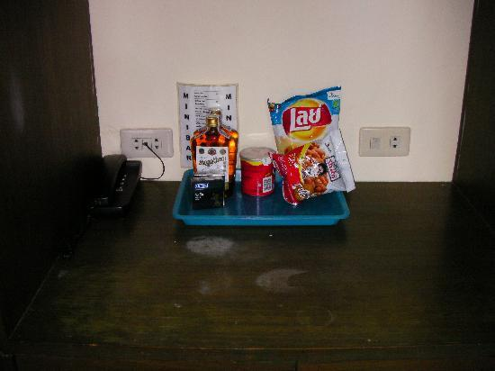 """The Kata Resort : the """"mini bar"""" complete with condoms - in a family room"""