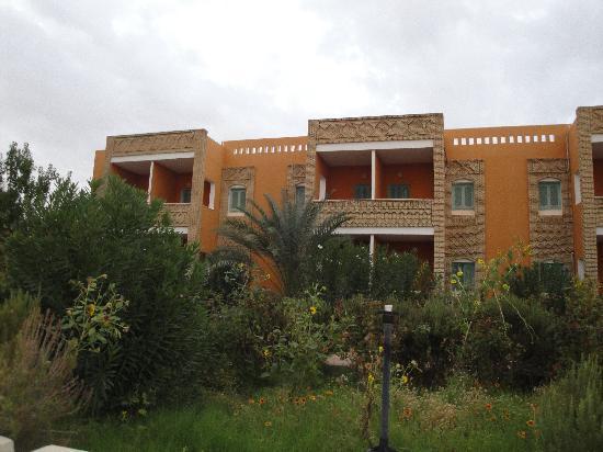 Gafsa, Túnez: l'hôtel vue du jardin