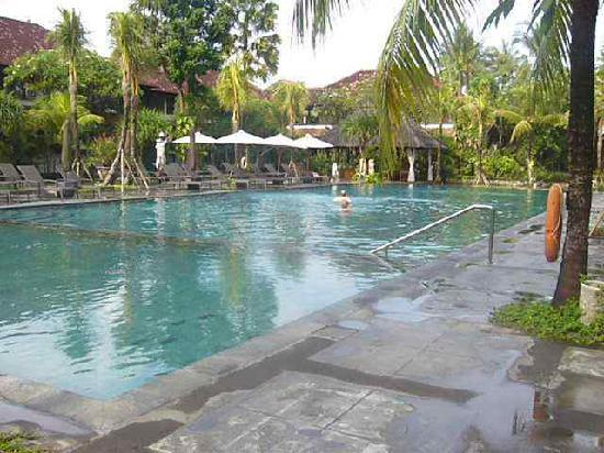 Hotel Santika Premiere Beach Resort Bali: The pool near the deluxe rooms towards the beach - doesn't have a swim up bar in this pool