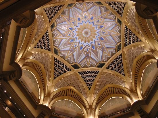 Emirates Palace: in der Hotelhalle