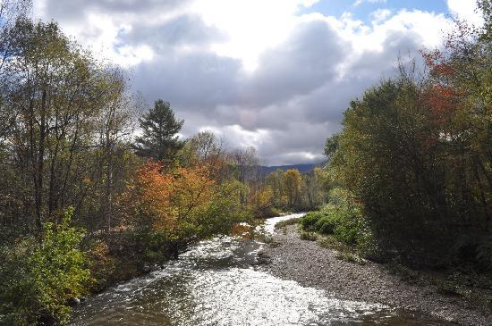 Stowe, VT: View of river from Rec Path, Oct 2010