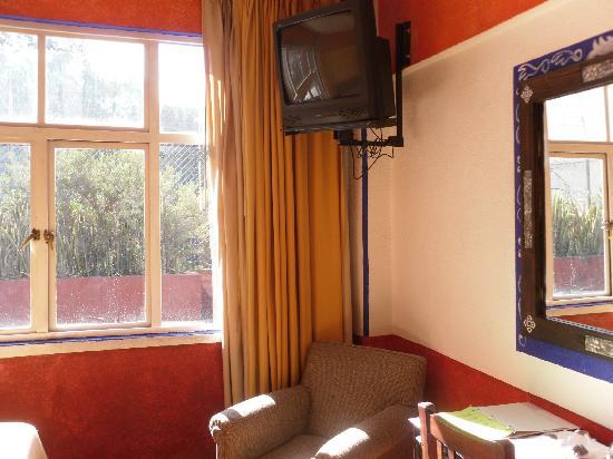 Posada Viena Hotel: Vista, tv