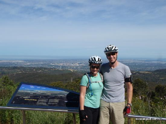 Escapegoat Adventures: Downhill all the way to Adelaide from the summit of mount lofty