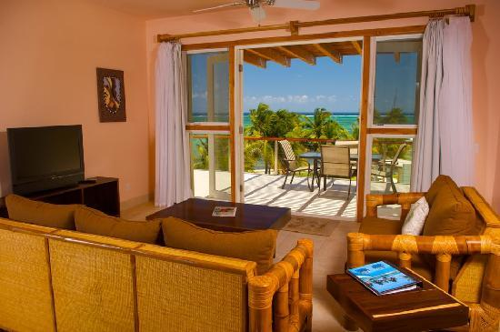 The Phoenix Resort: The view from the living room looking out towards the Caribbean