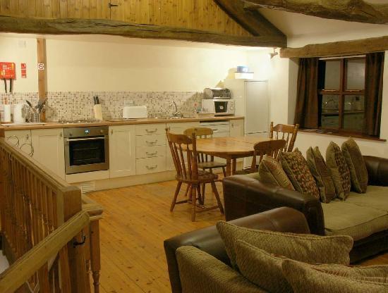 The Barn - living room & kitchen