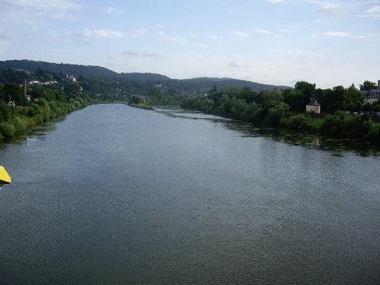 Hotel Römerbrücke: Moselle river from the bridge