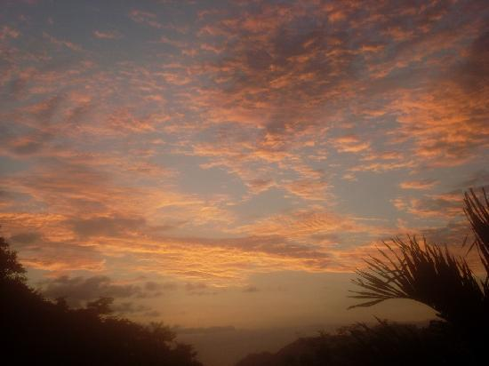 Casitas Azul Plata: Schöner Sonnenuntergang