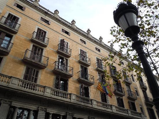 Hotel Fornos, view from La Rambla