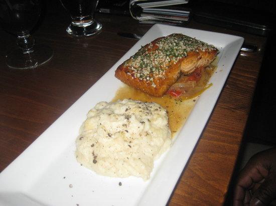Trattoria Azzurra: My Dad's herb encrusted salmon w/ celeriac mash
