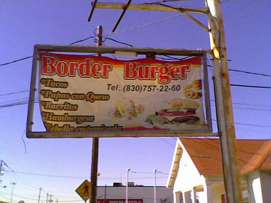 Border Burgers: The only clue the restaurant is here...