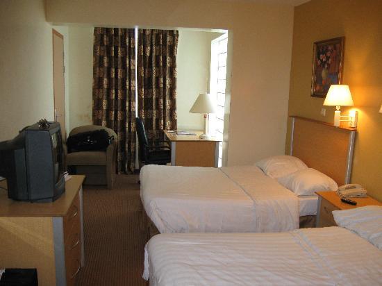 E M City Hotel: Vista de la habitación al entrar