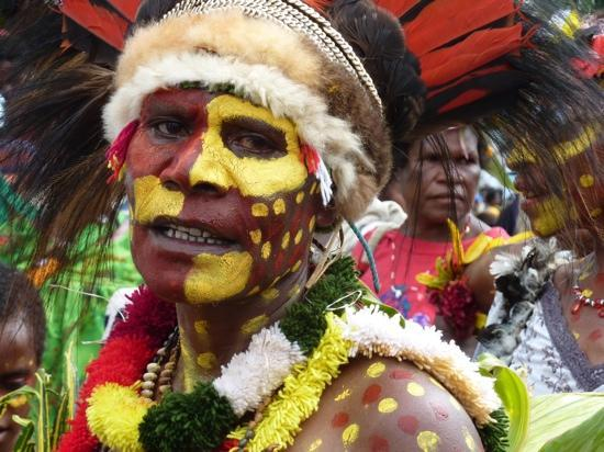 Lae, Papua-Nova Guiné: Faces in the crowd at the Lutheran Synod, January 2010