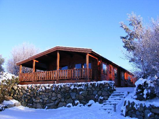 Kippford, UK: Cosy Norwegian Lodges