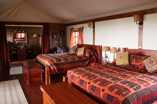 Mara West Camp: Luxury tent interior