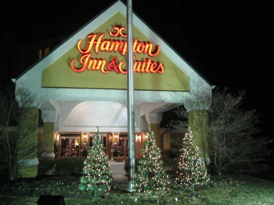 Hampton Inn & Suites Pigeon Forge On The Parkway: Beautiful, tasteful decorations for Christmas!