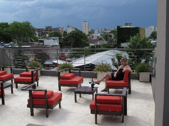 The Glu Hotel: Enjoy a glass of wine on the rooftop patio