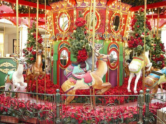 christmas carousel at the king of prussia mall