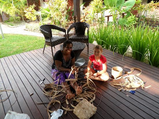 Village de Santo Resort: Basket weaving