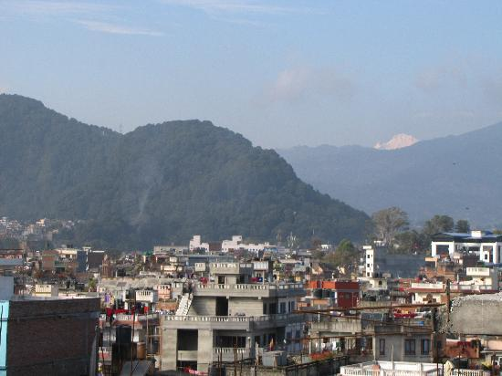 Kathmandu Peace Guest House: View from the roof top garden