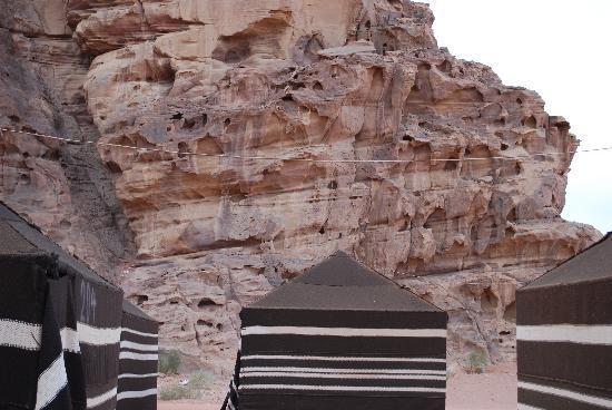 Akaba, Jordánia: Tälten i Wadi rum