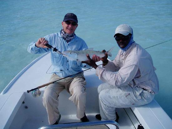 Swain's Cay Lodge: Another Big Bonefish!