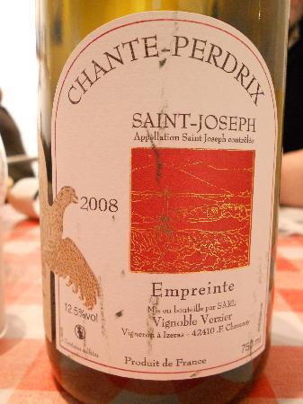 """Restaurant du Musee d'Art Moderne : St Joseph """"Chante perdrix"""" de che Verzier"""