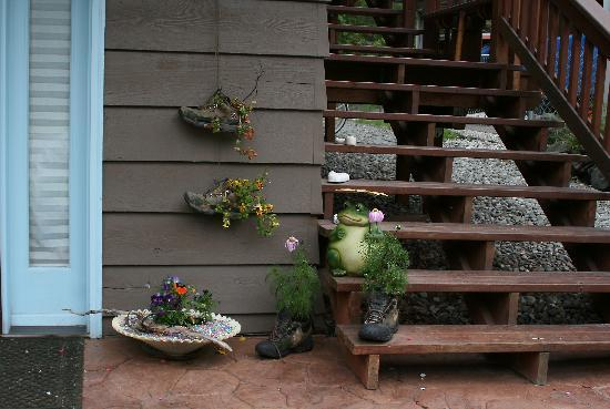 Walkabout Town B&B: You will find flowers in interesting places.